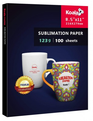 KOALA Sublimation Transfer Paper 8.5x11 Inch 123gsm 100 Sheets for Inkjet Printer