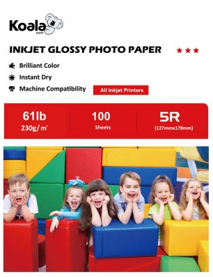 Koala Photo Paper High Glossy 5x7 Inches 100 Sheets 230gsm Compatible with Inkjet Printer