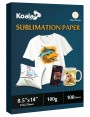 KOALA Sublimation Transfer Paper 8.5x14 Inch 100 Sheets 123gsm for Inkjet Printer