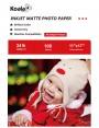 Koala Inkjet Matte Photo Paper 11x17 Inch 128gsm 100 Sheets Used For Inkjet Printer