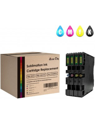 Stone City Compatible Ink Cartridge Replacement for Ricoh Printers with  Black  Yellow  Cyan  Magenta