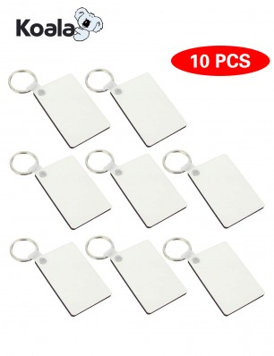 10pcs rectangle sublimation keychain blanks for Heat Transfer