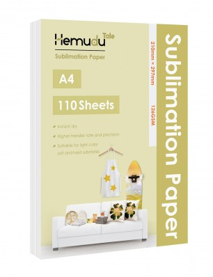 Hemudu Sublimation Transfer Paper 8.3'' x 11.7'' 126gsm 110 Sheets for any Inkjet Printer