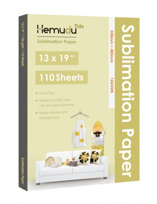 Hemudu Sublimation Transfer Paper 13'' x 19'' 126gsm 110 Sheets for any Inkjet Printer