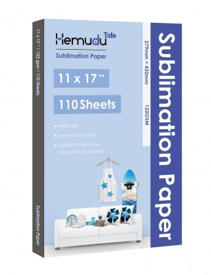 Hemudu Sublimation Transfer Paper 11'' x 17'' 122gsm 110 Sheets for any Inkjet Printer
