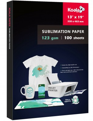 KOALA Sublimation Transfer Paper 13x19 Inch 100 Sheets 123gsm for Inkjet Printer