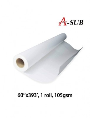 "A-SUB Sublimation Paper 60""x393', 105gsm, roll size"