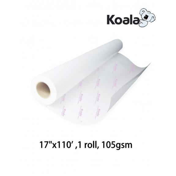 "KoalaSublimation Paper 17""x110', 105gsm roll size"
