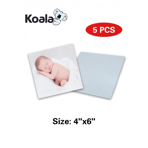 "Koala Sublimation Aluminum Blanks 4"" x 6"" 5 Packs"