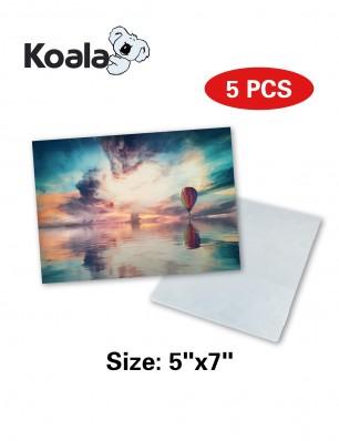 """Koala Sublimation Aluminum Blanks 5"""" x 7"""" 5 Pack"""