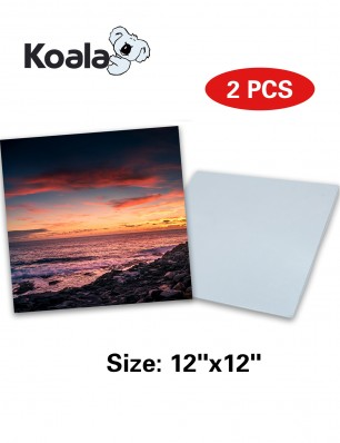 "Koala Sublimation Aluminum Blanks 12"" x 12"" 2Pack"