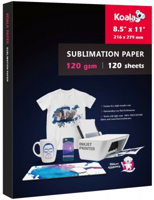 KOALA Sublimation Transfer Paper 8.5x11 Inch 120gsm 100 Sheets for Inkjet Printer