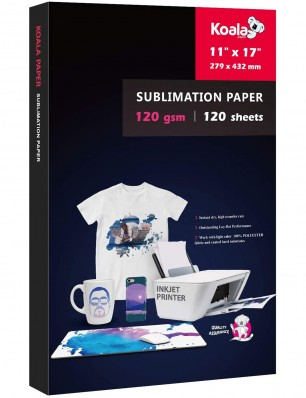 KOALA Sublimation Transfer Paper 11x17 Inch 120gsm 100 Sheets for Inkjet Printer