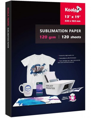 KOALA Sublimation Transfer Paper 13x19 Inch 120gsm 100 Sheets for Inkjet Printer