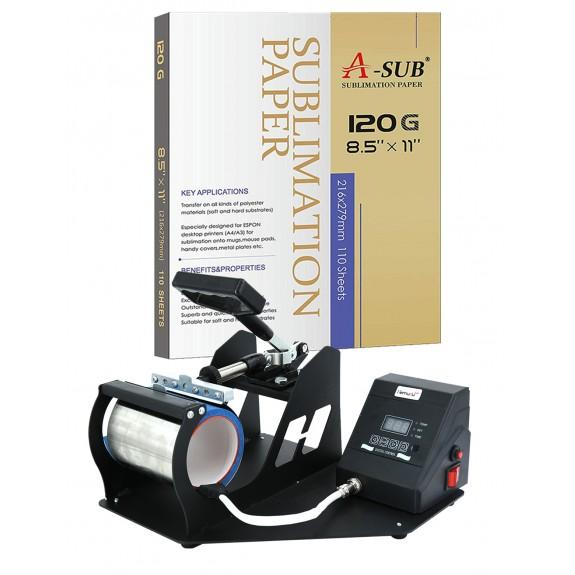 Mug Heat Press Machine Package for Any Inkjet Printer