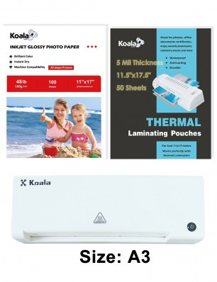 Koala Thermal Laminating Machine Package A3