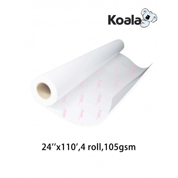 "Koala Sublimation Paper 24""x110', 4 rolls,105gsm roll size"
