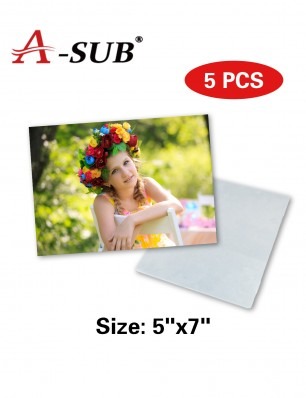 "A-SUB HD Sublimation Aluminum Photo Panels5"" x 7"" 5 Pack"