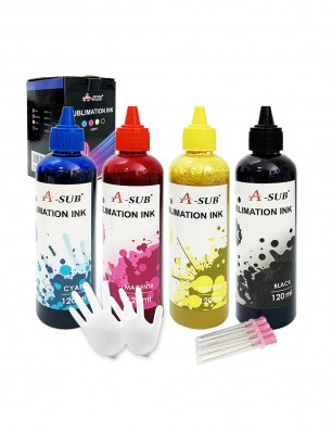 A-SUB 4x120ML Sublimation Ink for Epson inkjet printer