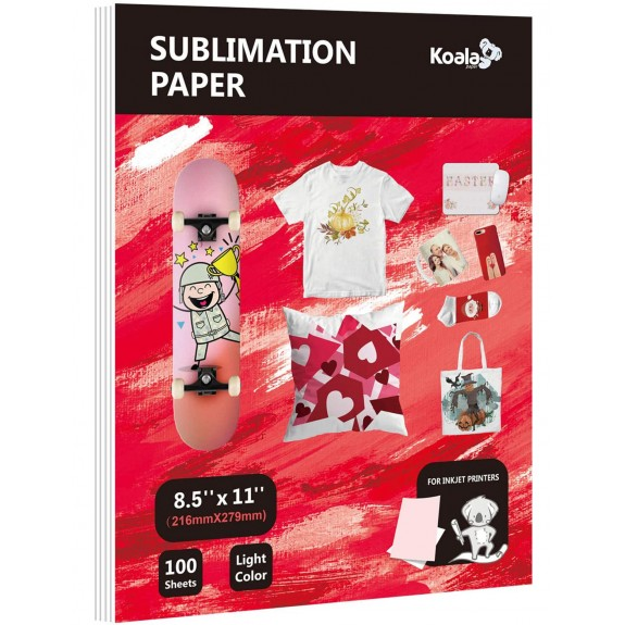 Koala Thin 8.5X11 inches 100 Sheets Sublimation Papers
