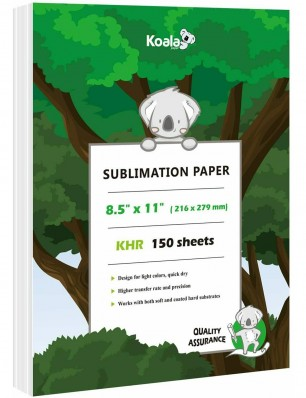 Koala Sublimation Paper 150 Sheets 8.5x11 inches 100gsm for Inkjet Printer