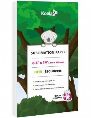 Koala Sublimation Paper 150 Sheets 8.5x14 inches 100gsm for Inkjet Printer