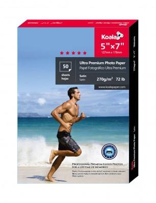 Koala Advanced Satin Photo Paper 5x7 inch 50 Sheets used for all Inkjet Printer