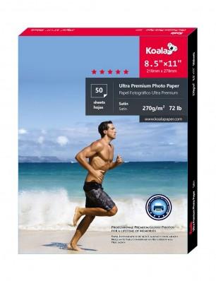 Koala Advanced Satin Photo Paper  8.5x11 inch 50 Sheets letter size used for All Inkjet Printer