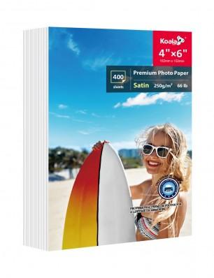 400 Sheet Koala 4x6 Premium Satin Semi Gloss Inkjet Printer Photo Paper for Epson HP