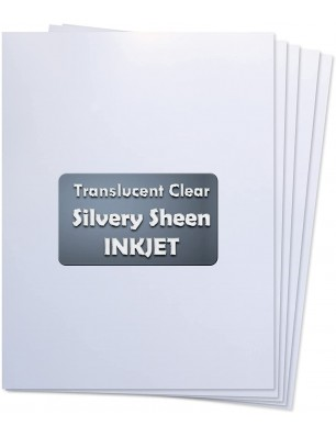 Koala Silvery Sheen Clear 8.5x 11 Inches 5 Sheets Waterslide Decal Paper for Inkjet Printer