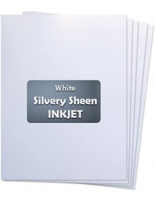 Koala Silvery Sheen White 8.5x 11 Inches 5 Sheets Waterslide Decal Paper for Inkjet Printer