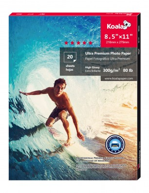 Koala Ultra Premium Photo Paper With Germany Imported Material 8.5x11 inch 20 Sheets,Glossy,For Canon Hp Epson Inkjet Printer