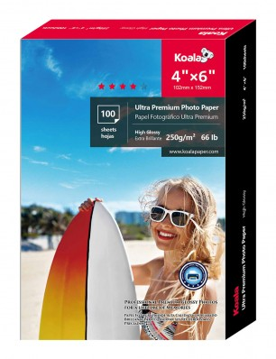 Koala Advanced Photo Paper With Germany Imported Material 4x6 inch 100 Sheets, High Glossy, For Canon Hp Epson Inkjet Printer
