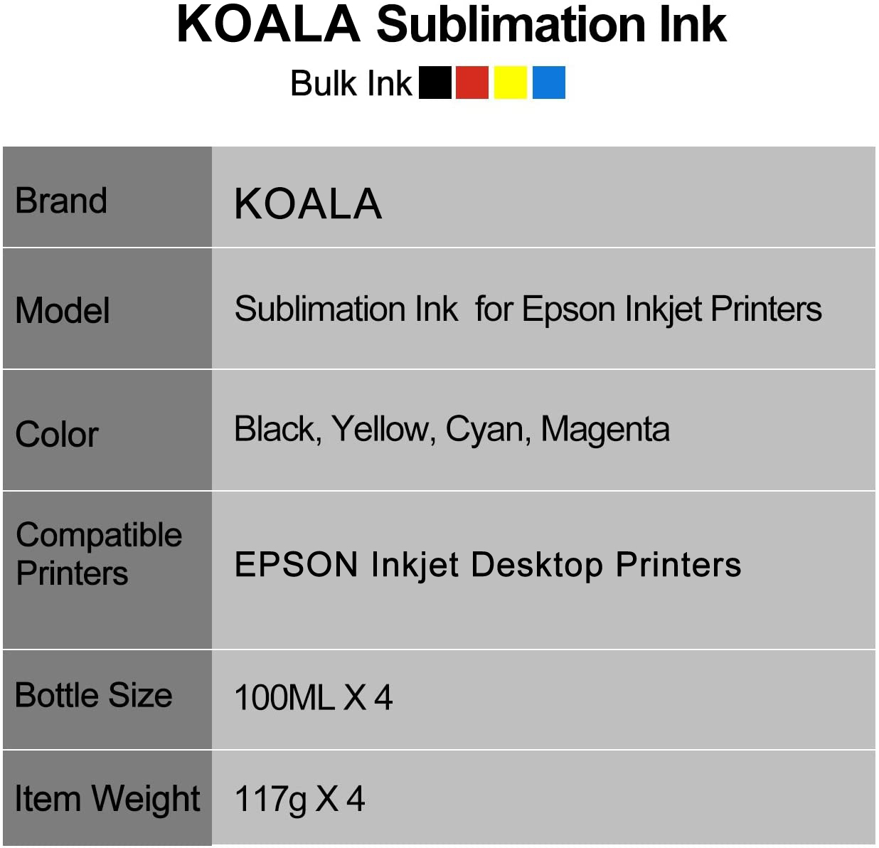 koala sublimation ink for EPSON printer